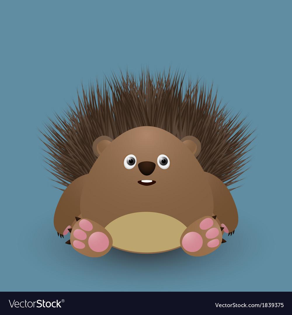 Cute baby hedgehog vector | Price: 1 Credit (USD $1)