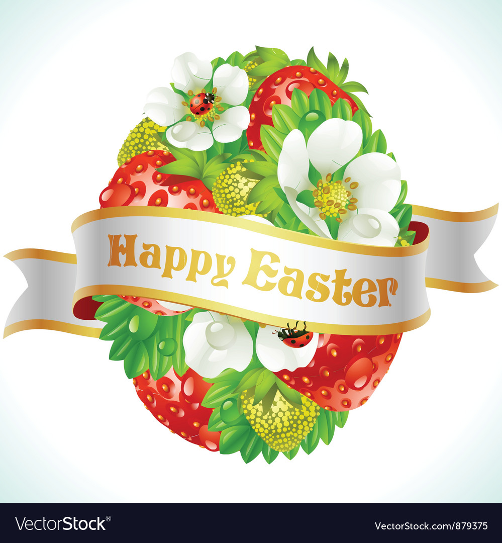 Easter egg from strawberry vector | Price: 3 Credit (USD $3)