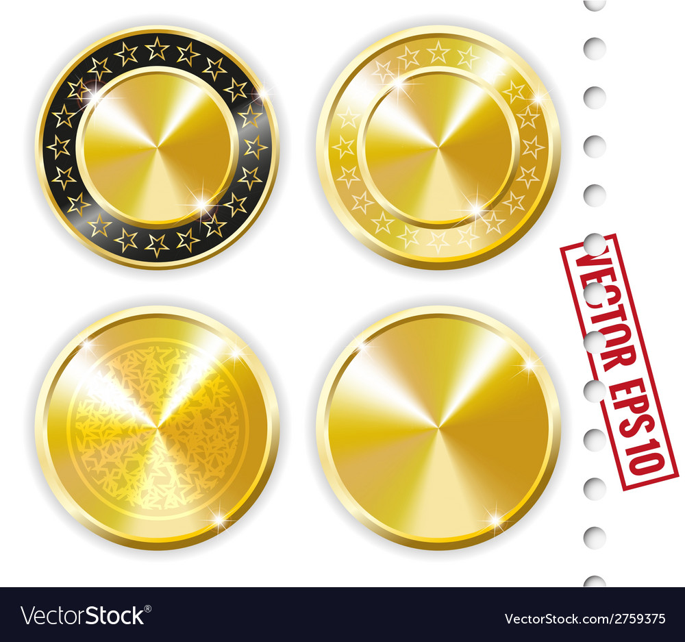 Gold labels vector | Price: 1 Credit (USD $1)
