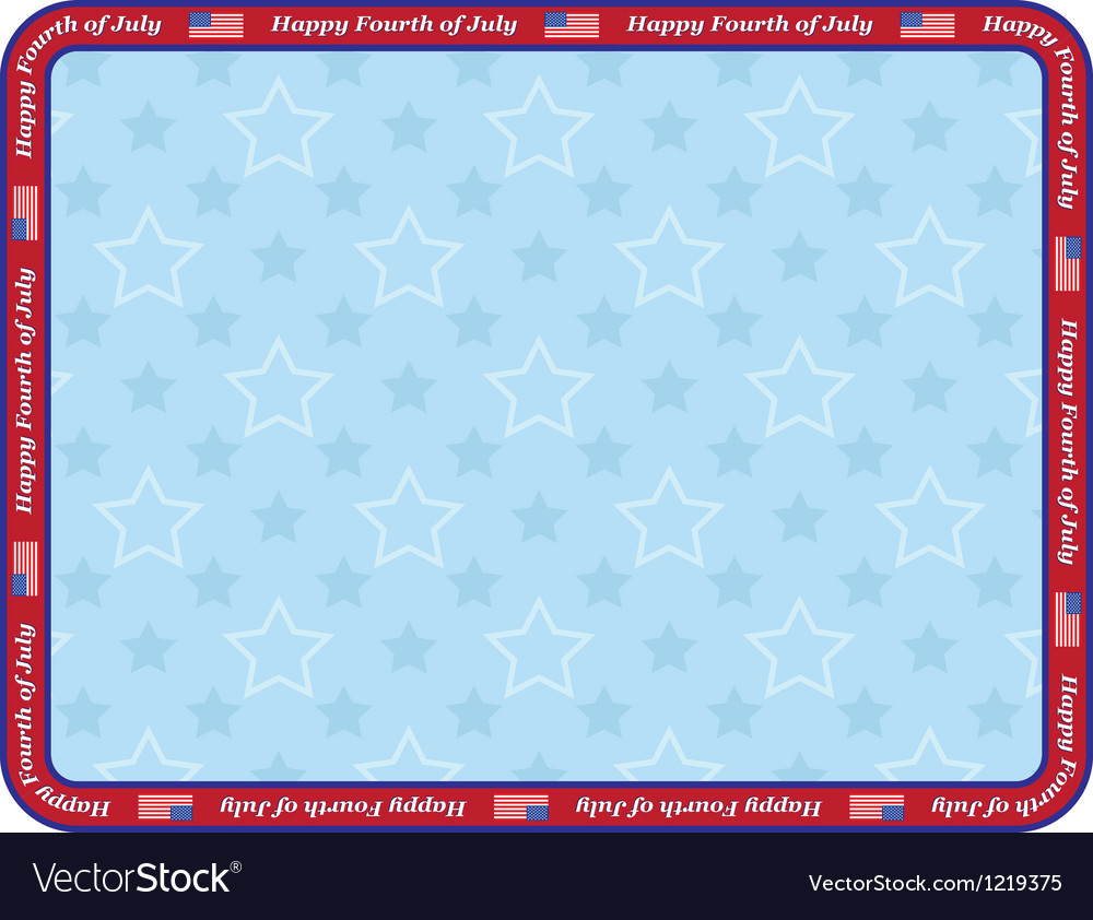 Happy fourth of july vector | Price: 1 Credit (USD $1)