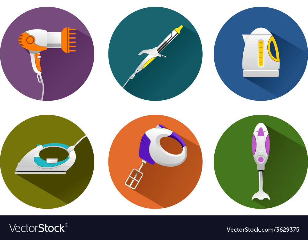 Household machines vector | Price: 1 Credit (USD $1)