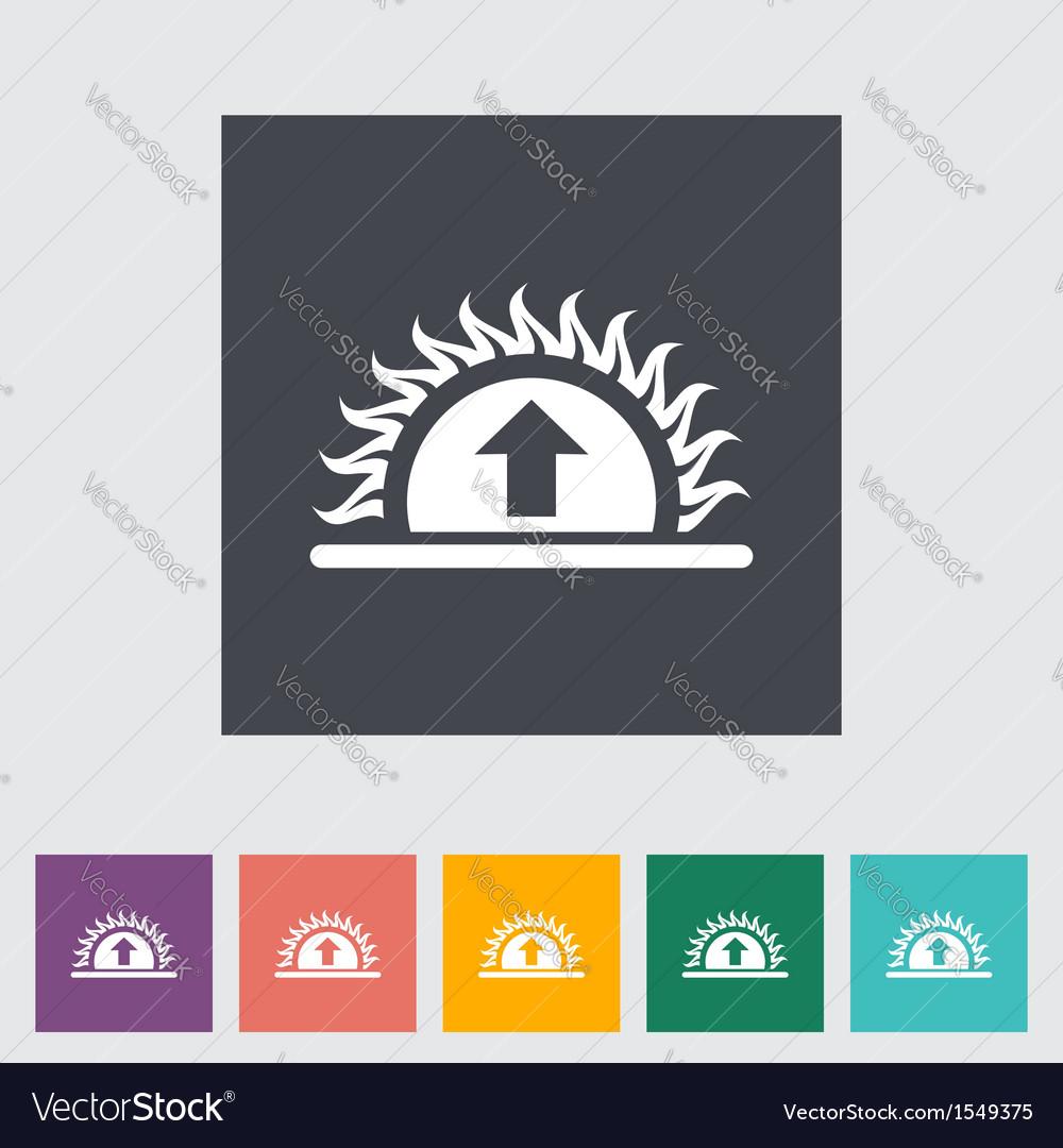 Icon sunrise vector | Price: 1 Credit (USD $1)
