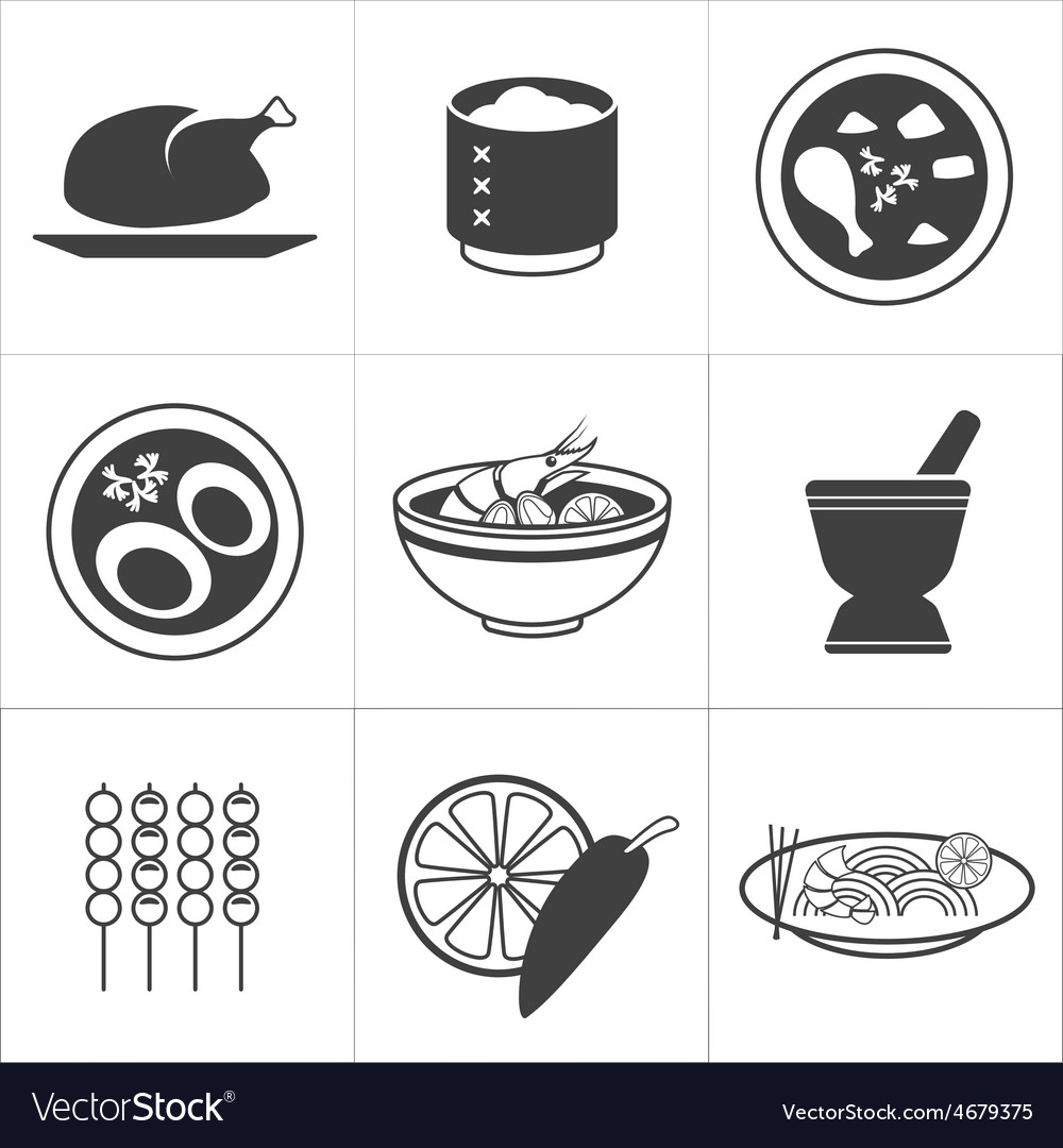 Icon thai food vector | Price: 1 Credit (USD $1)