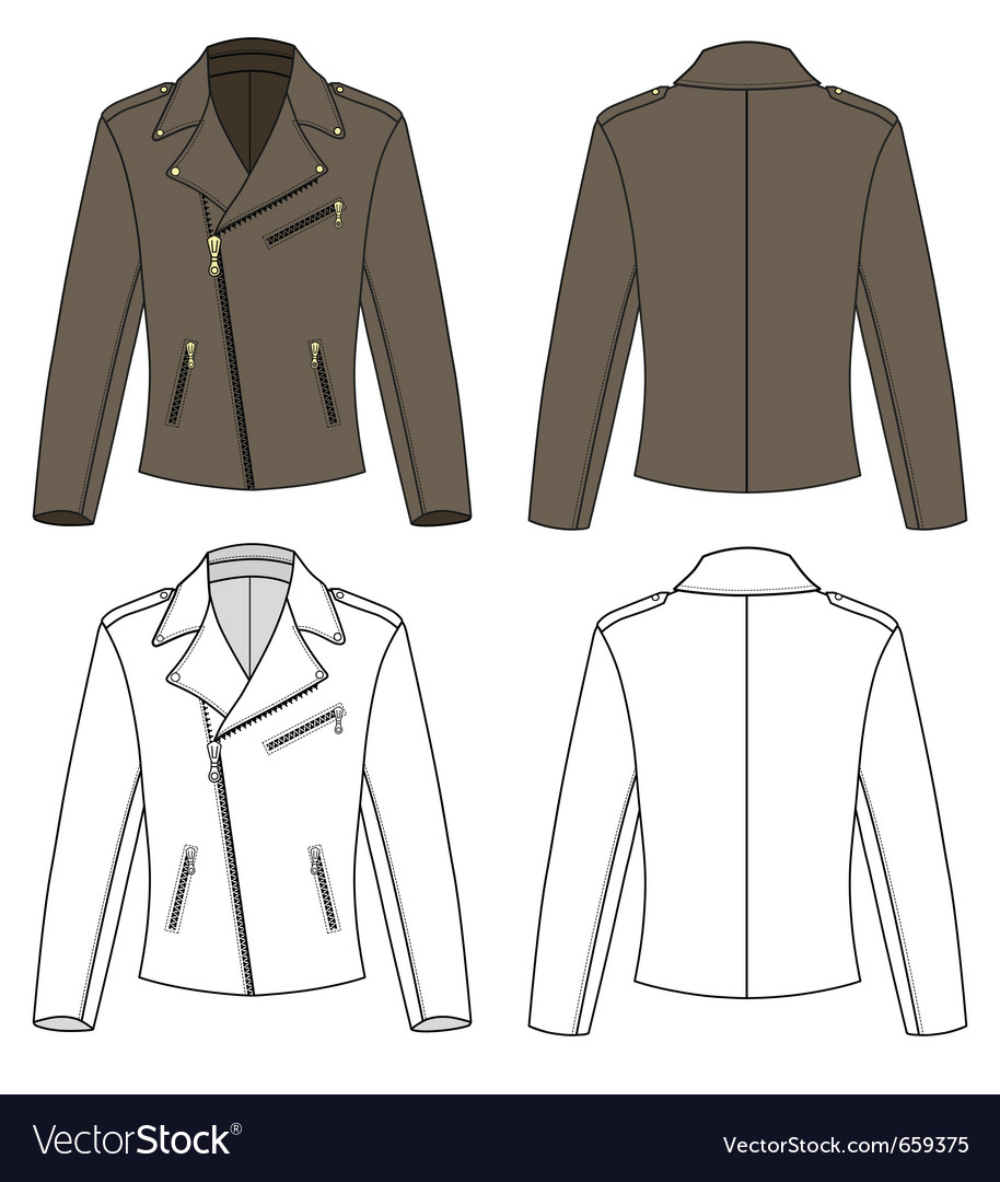 Jacket for man vector | Price: 1 Credit (USD $1)
