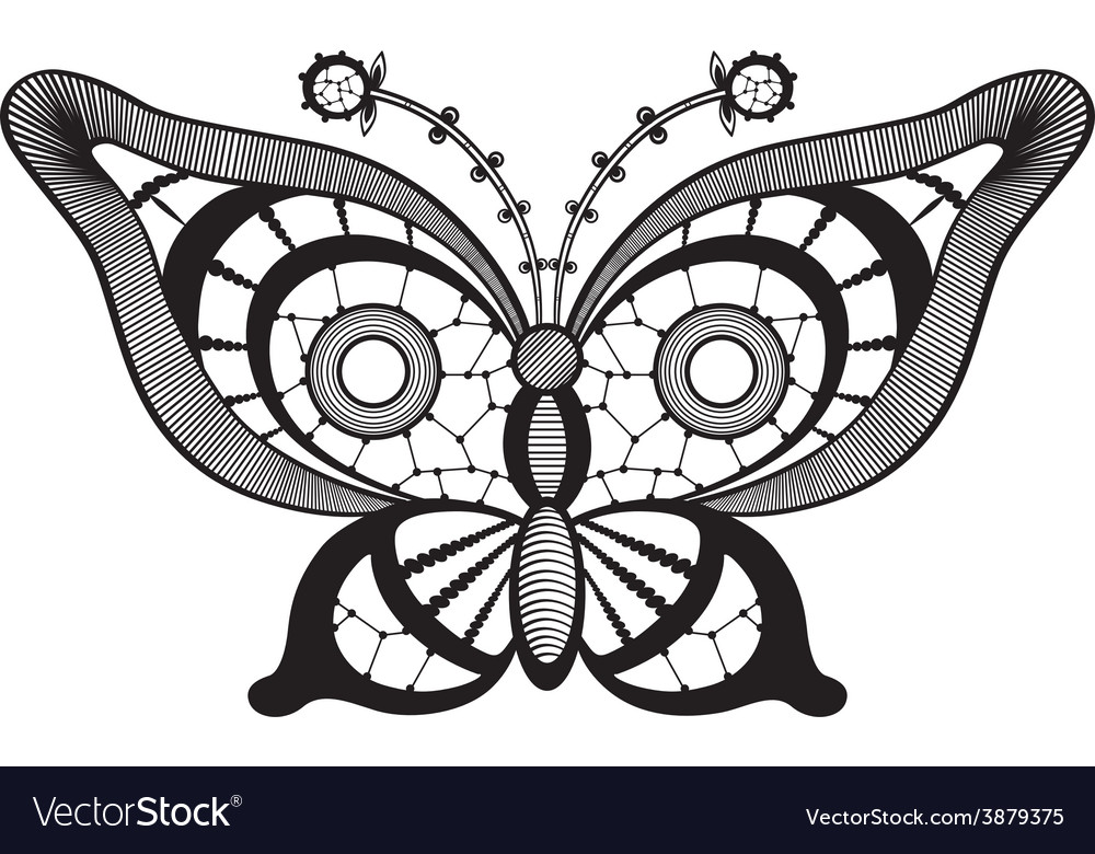 Lacy abstract butterfly vector   Price: 1 Credit (USD $1)