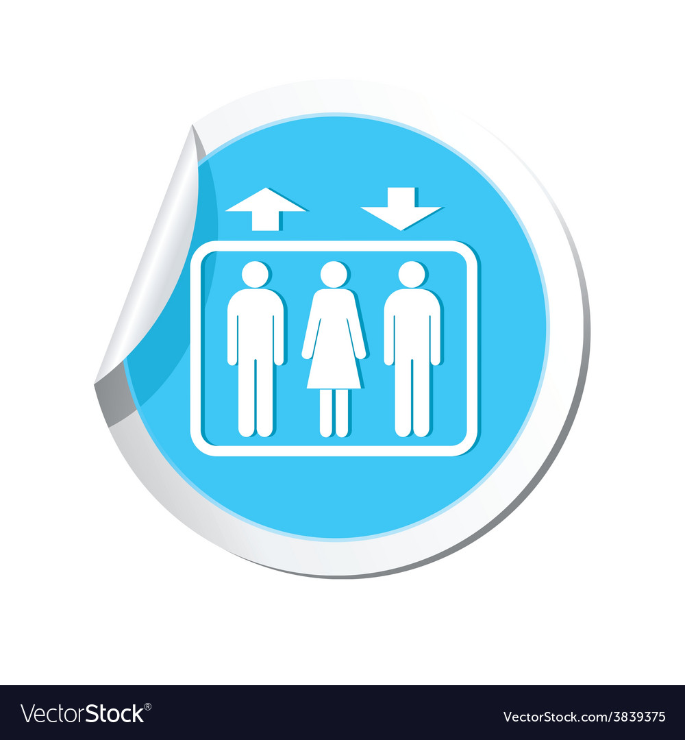 Lift blue label vector | Price: 1 Credit (USD $1)