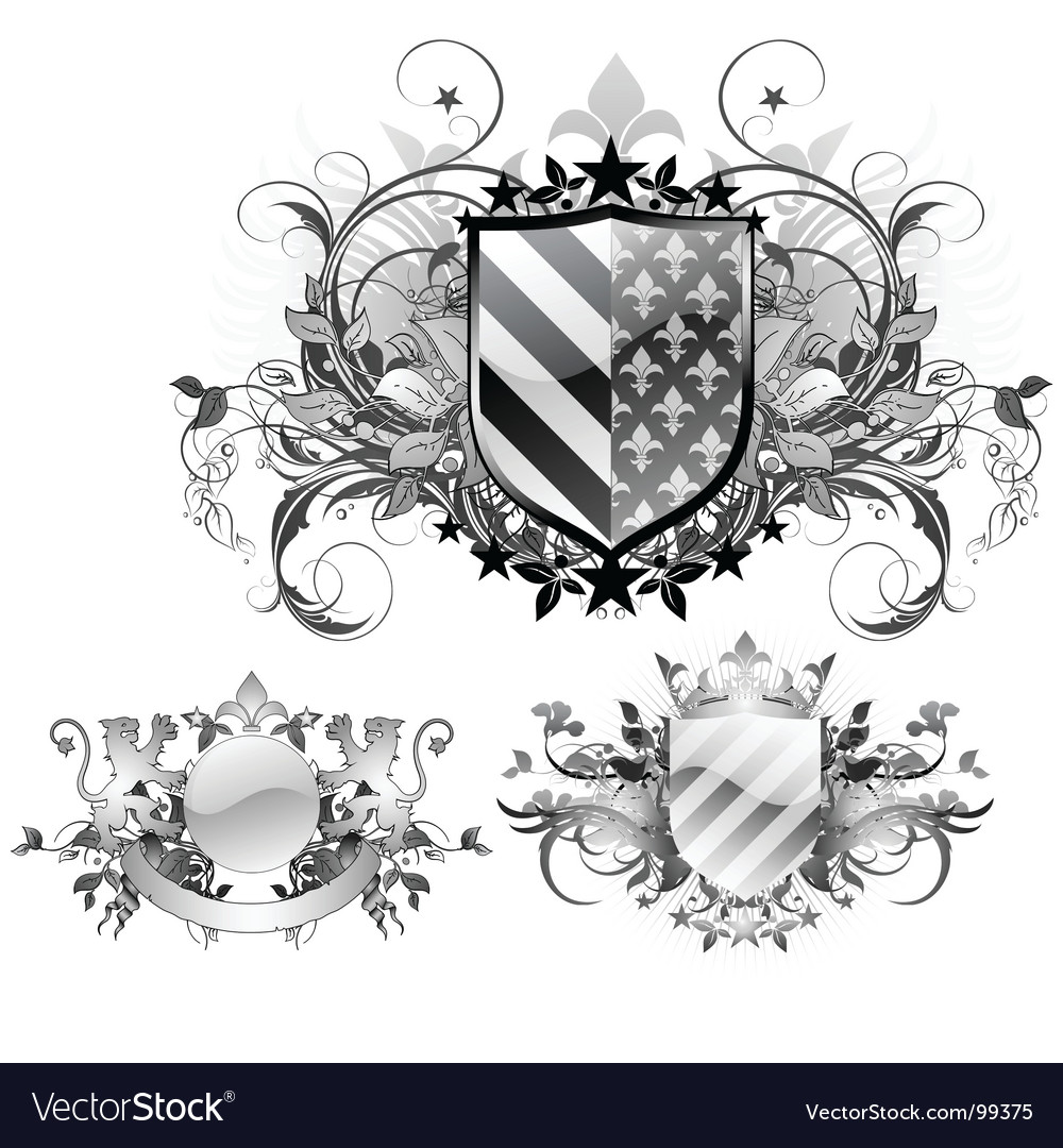 Medieval shields vector | Price: 3 Credit (USD $3)