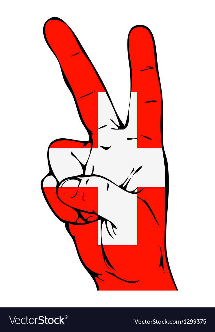 Peace sign of the swiss flag vector | Price: 1 Credit (USD $1)