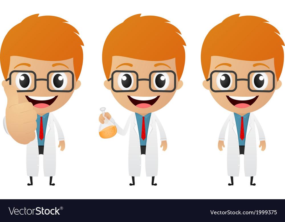 Young scientist cartoon vector | Price: 1 Credit (USD $1)