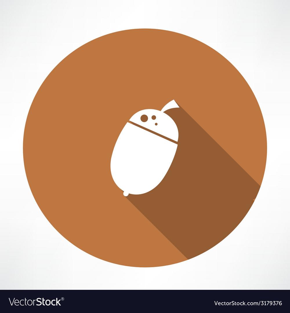 Acorn icon vector   Price: 1 Credit (USD $1)