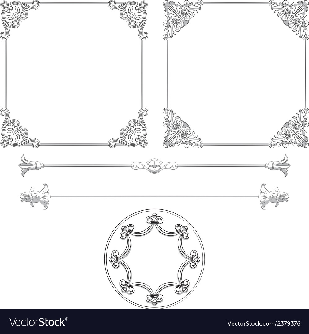 Beautiful retro frames vector | Price: 1 Credit (USD $1)