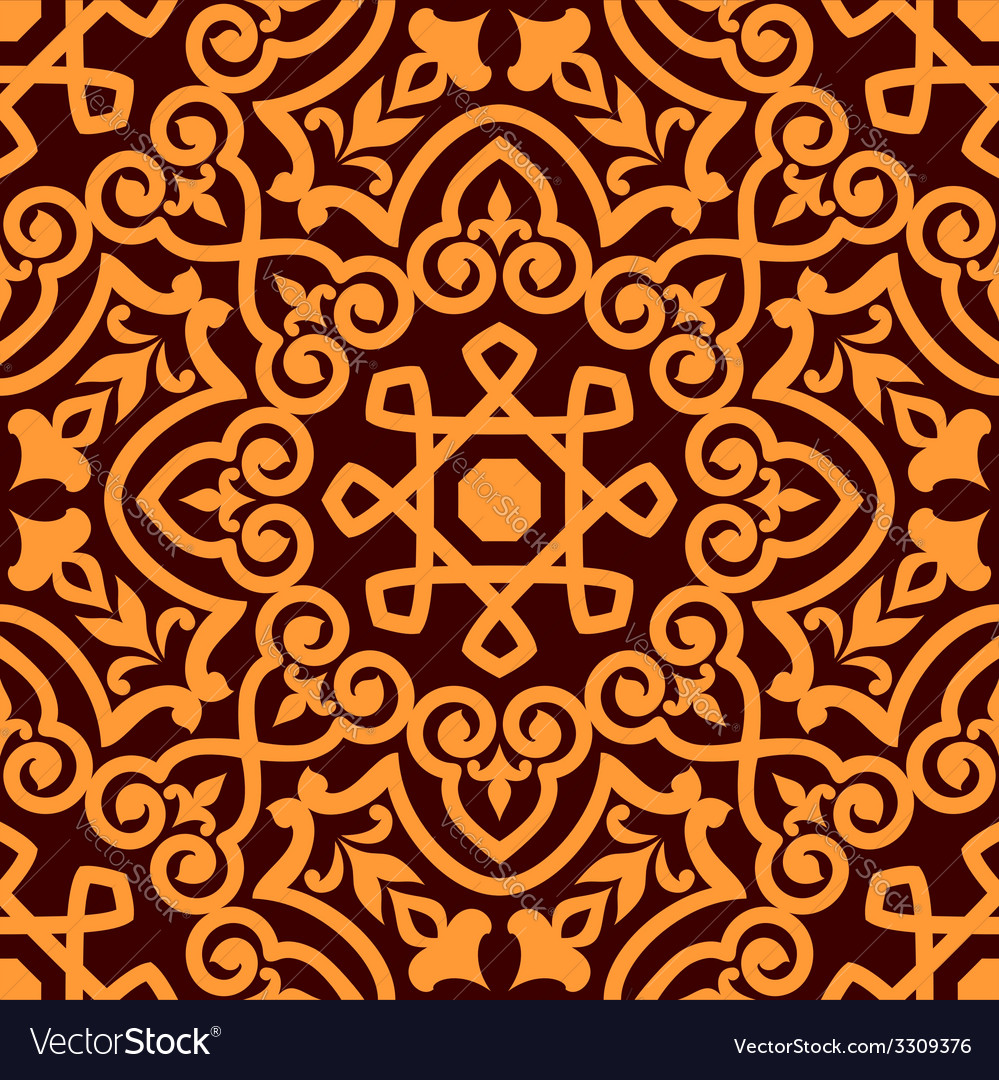 Bold intricate arabic seamless pattern vector | Price: 1 Credit (USD $1)