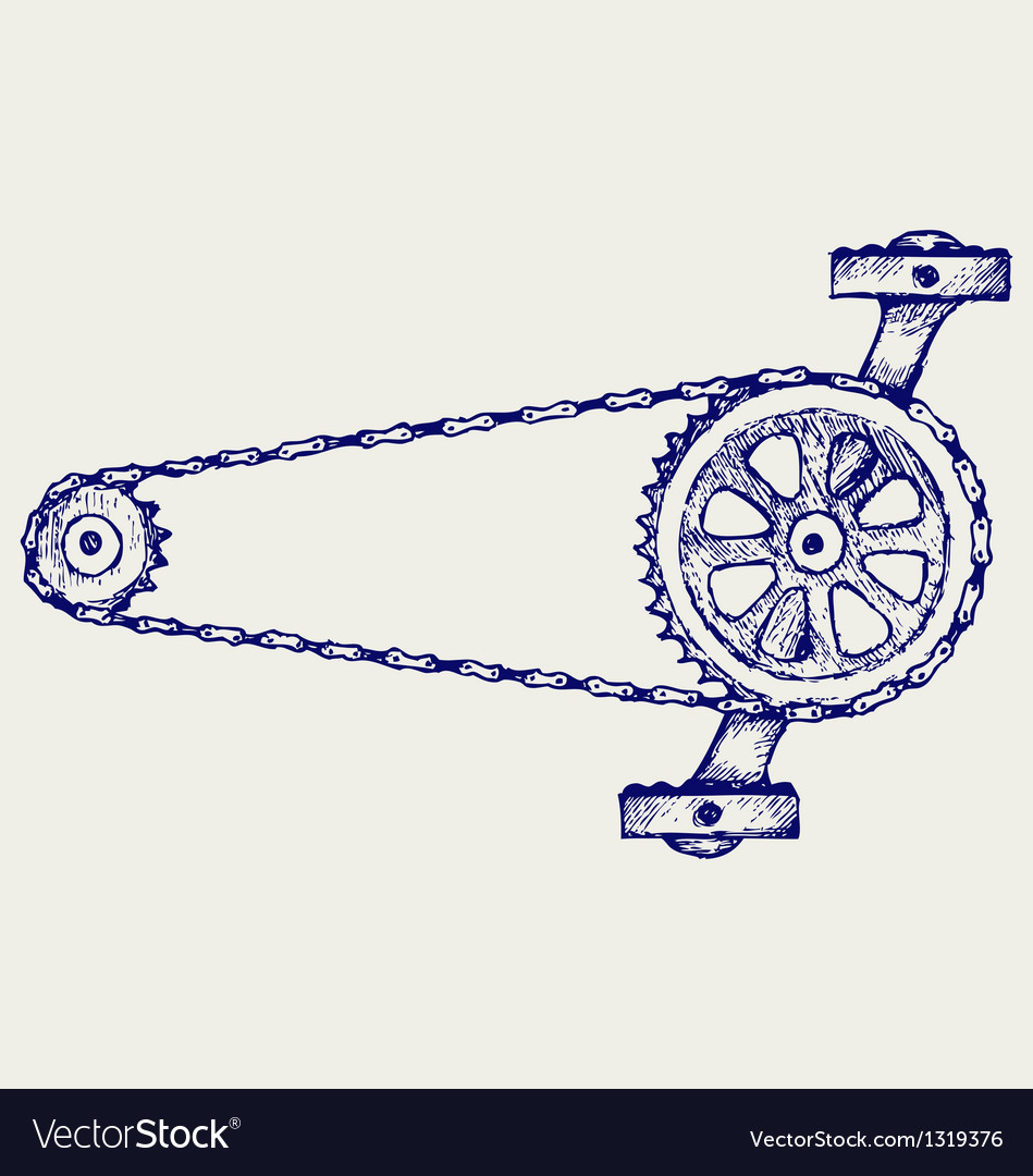Chain gears vector | Price: 1 Credit (USD $1)