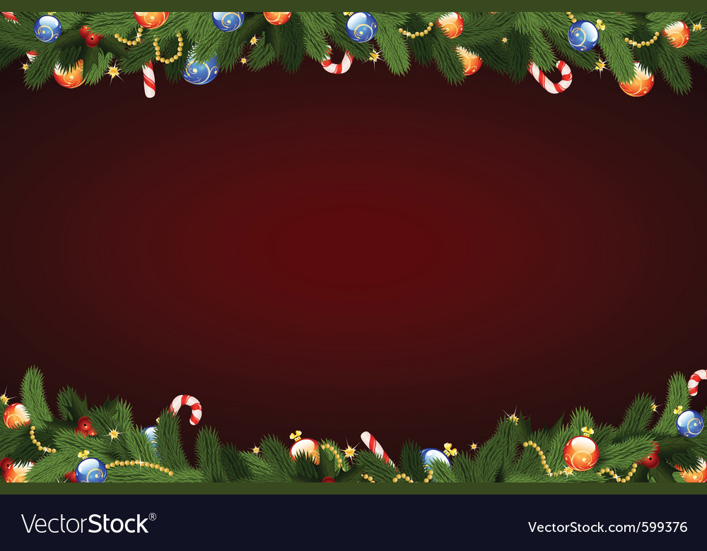 Christmas frame with fir tree vector | Price: 1 Credit (USD $1)