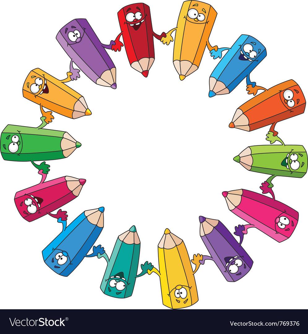 Circle pencils vector | Price: 1 Credit (USD $1)