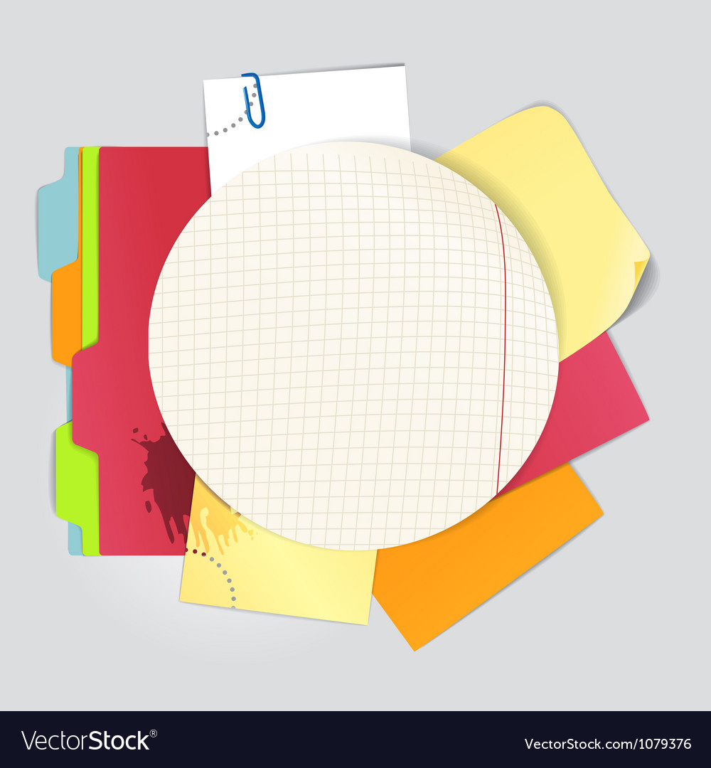 Circular background of an color office stuff vector | Price: 1 Credit (USD $1)