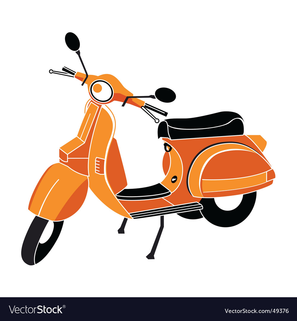 Classic scooter vector | Price: 1 Credit (USD $1)
