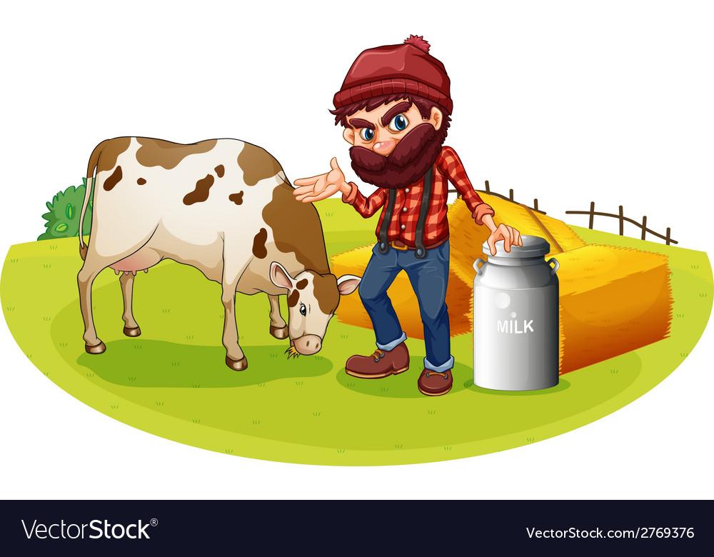 Farmer vector | Price: 1 Credit (USD $1)