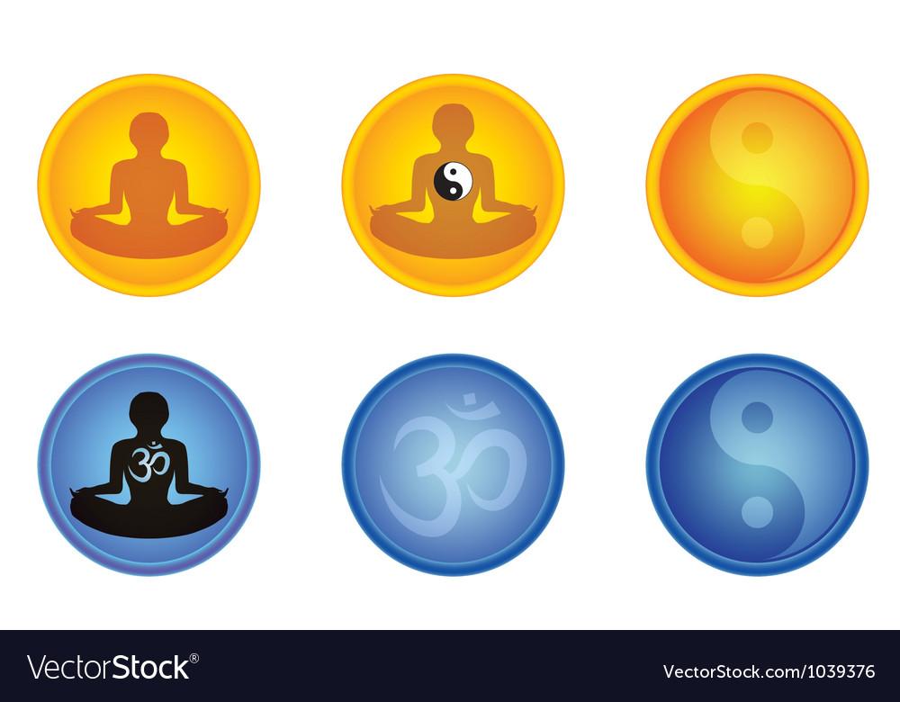 Meditation signs vector | Price: 1 Credit (USD $1)