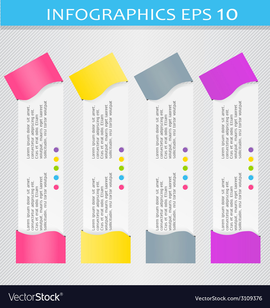 Modern 3d infographic colorful design template vector | Price: 1 Credit (USD $1)