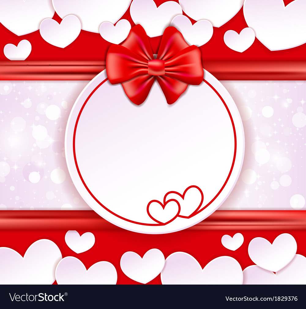Paper banner with two hearts vector   Price: 1 Credit (USD $1)