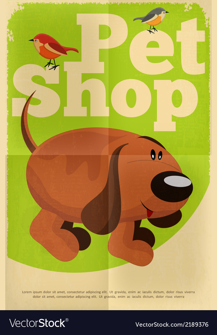 Pet shop poster dog vector | Price: 1 Credit (USD $1)