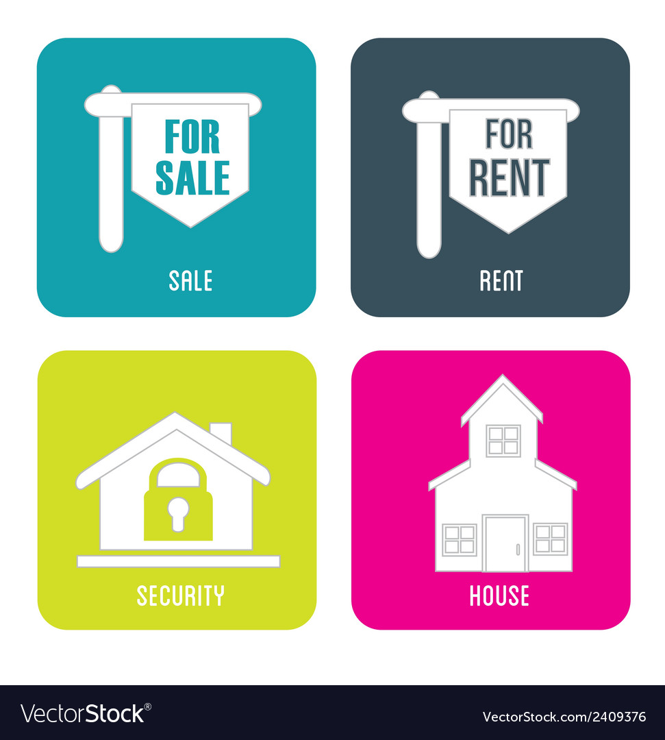Real estate sales rent vector | Price: 1 Credit (USD $1)