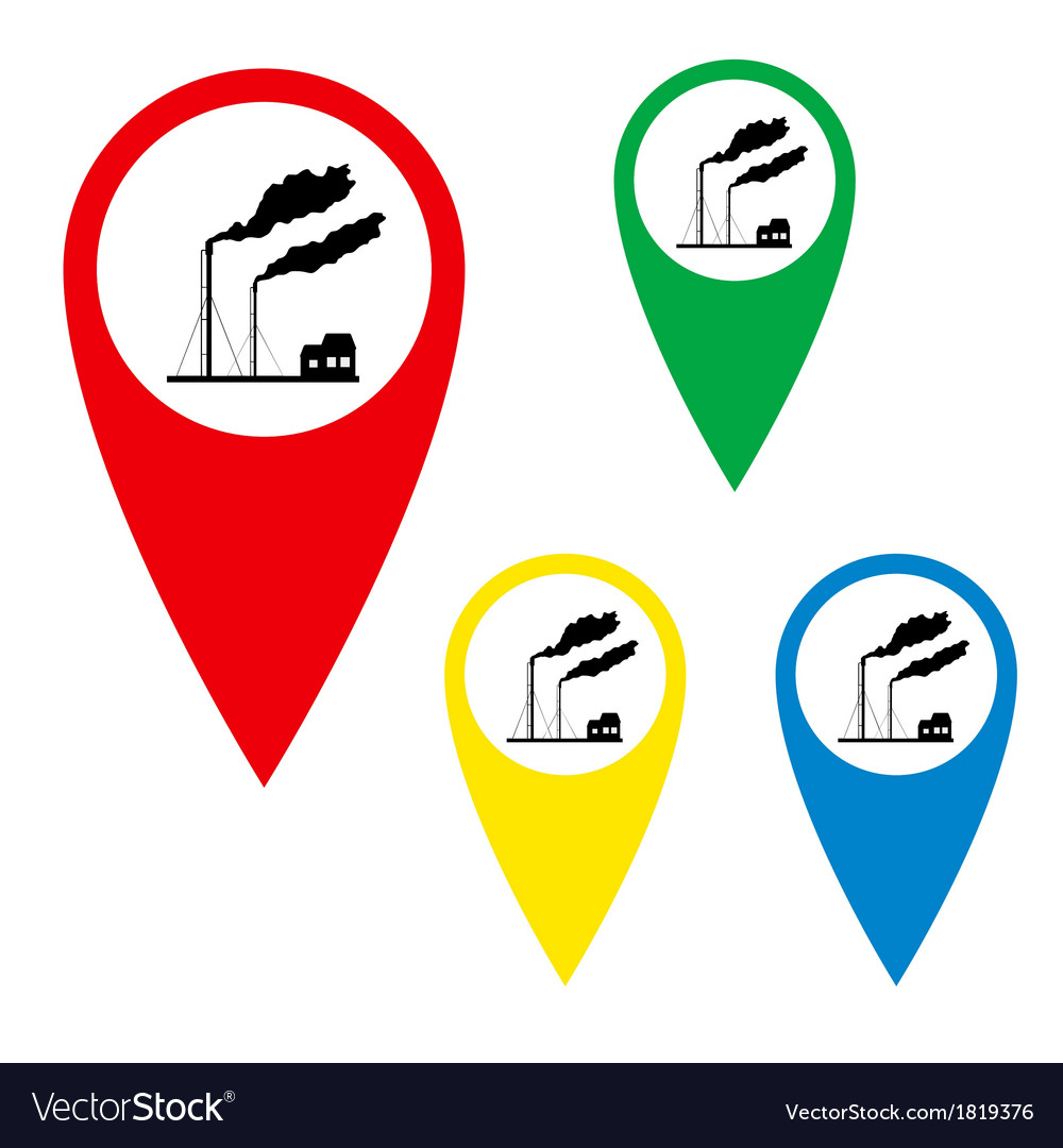 The silhouette of the torches on the map marker vector | Price: 1 Credit (USD $1)