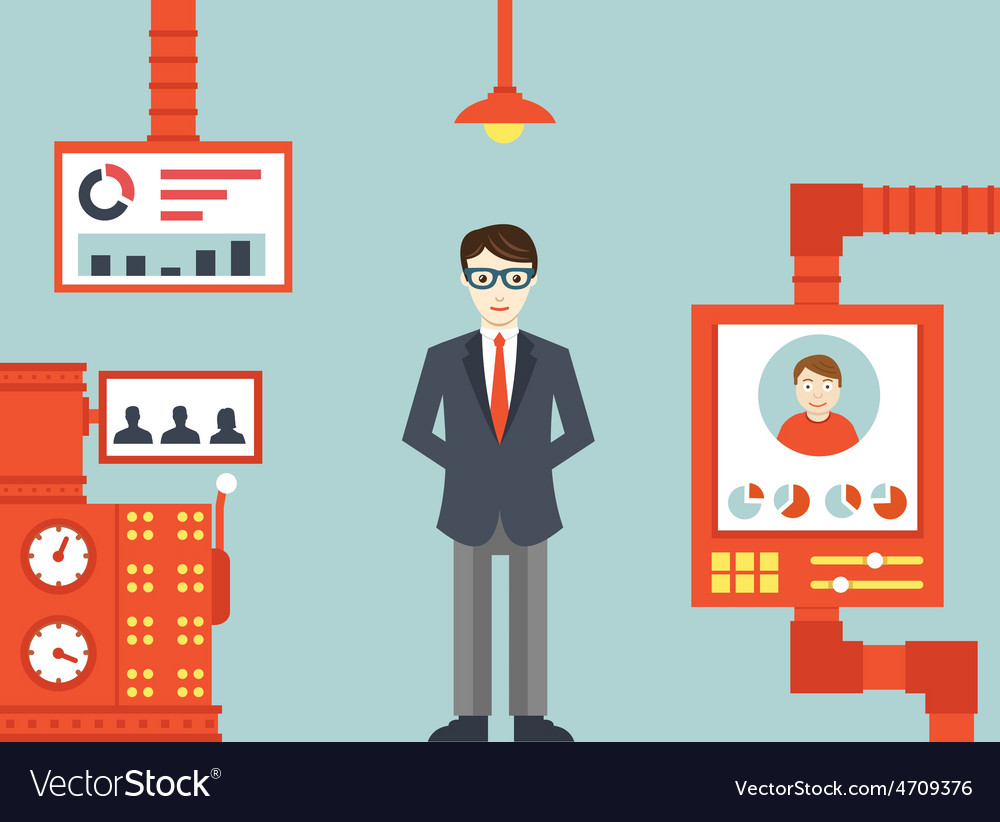 System of human resources management vector | Price: 1 Credit (USD $1)