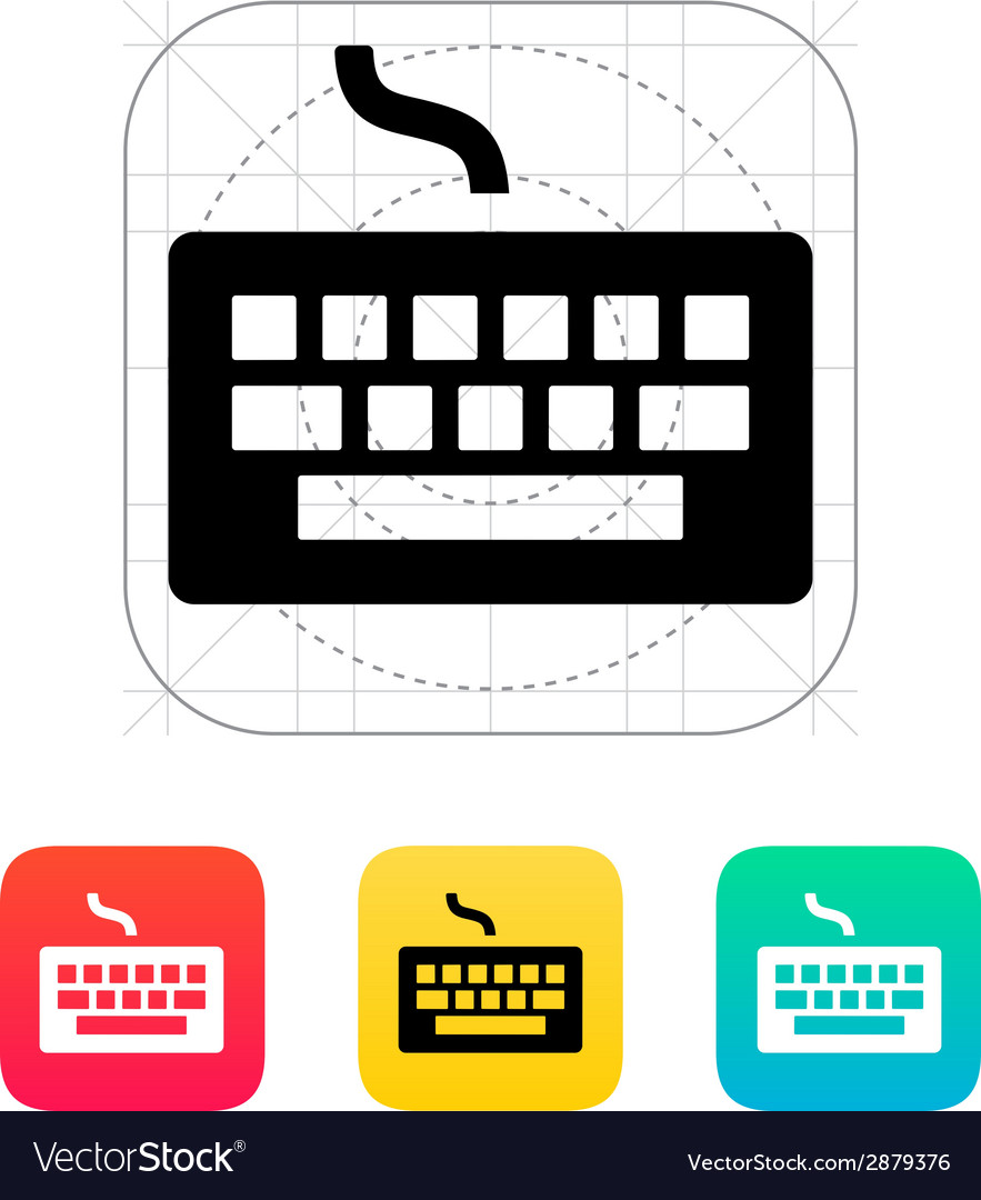 Wired keyboard icon vector | Price: 1 Credit (USD $1)