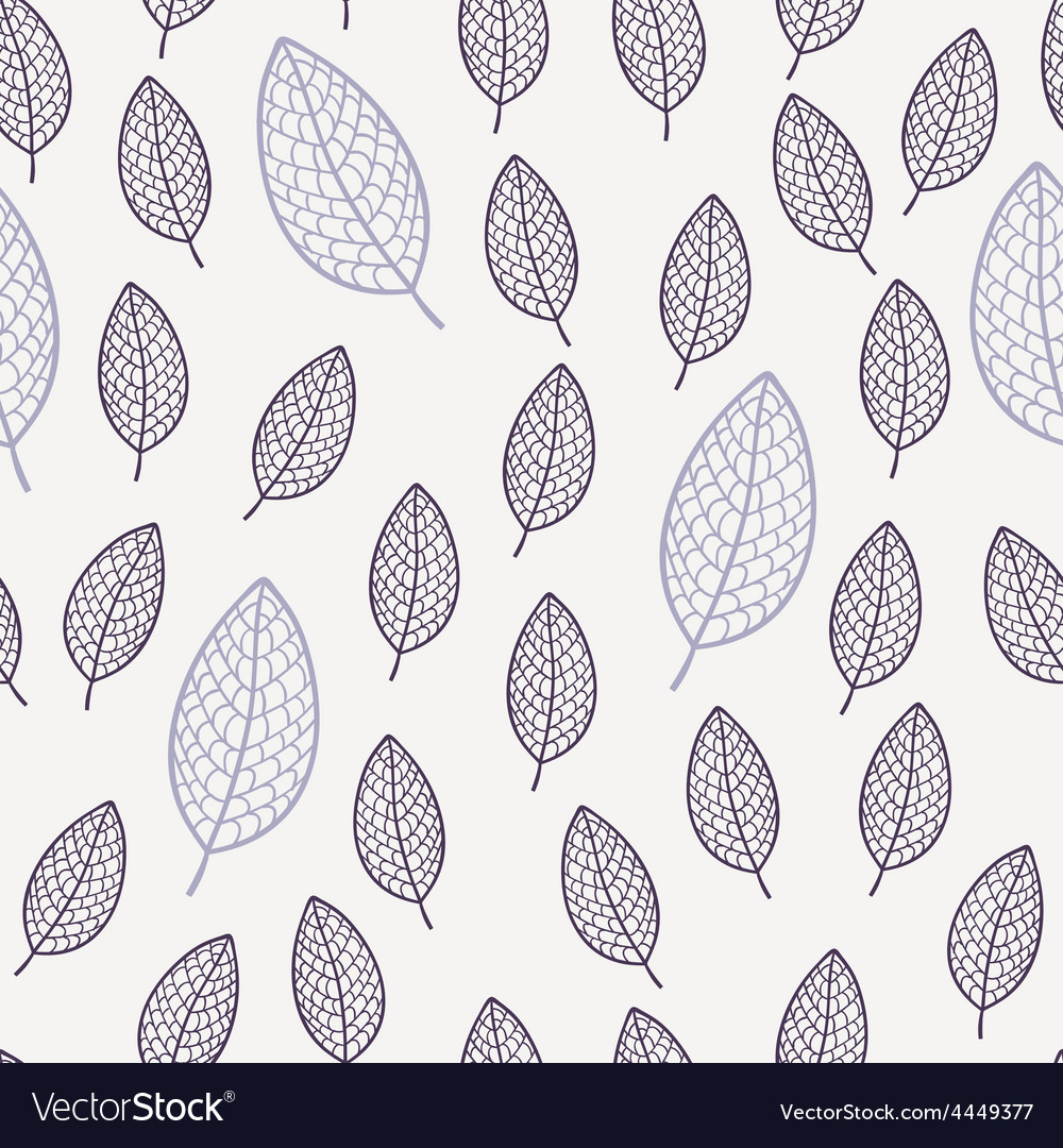 Abstract floral seamless pattern with leaves vector | Price: 1 Credit (USD $1)