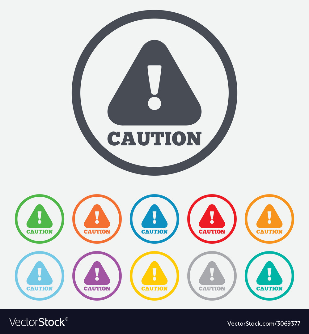 Attention caution sign icon exclamation mark vector | Price: 1 Credit (USD $1)