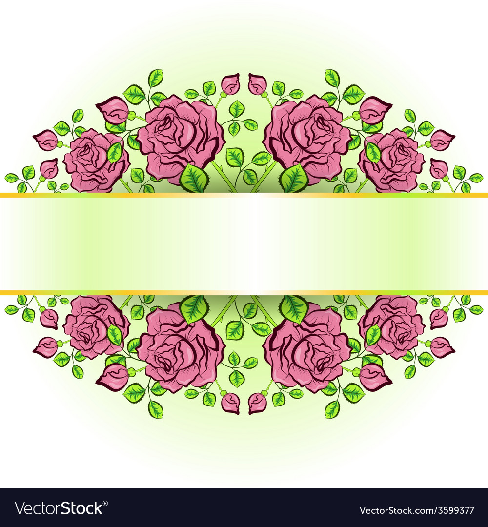 Background with lace pattern of roses vector | Price: 1 Credit (USD $1)