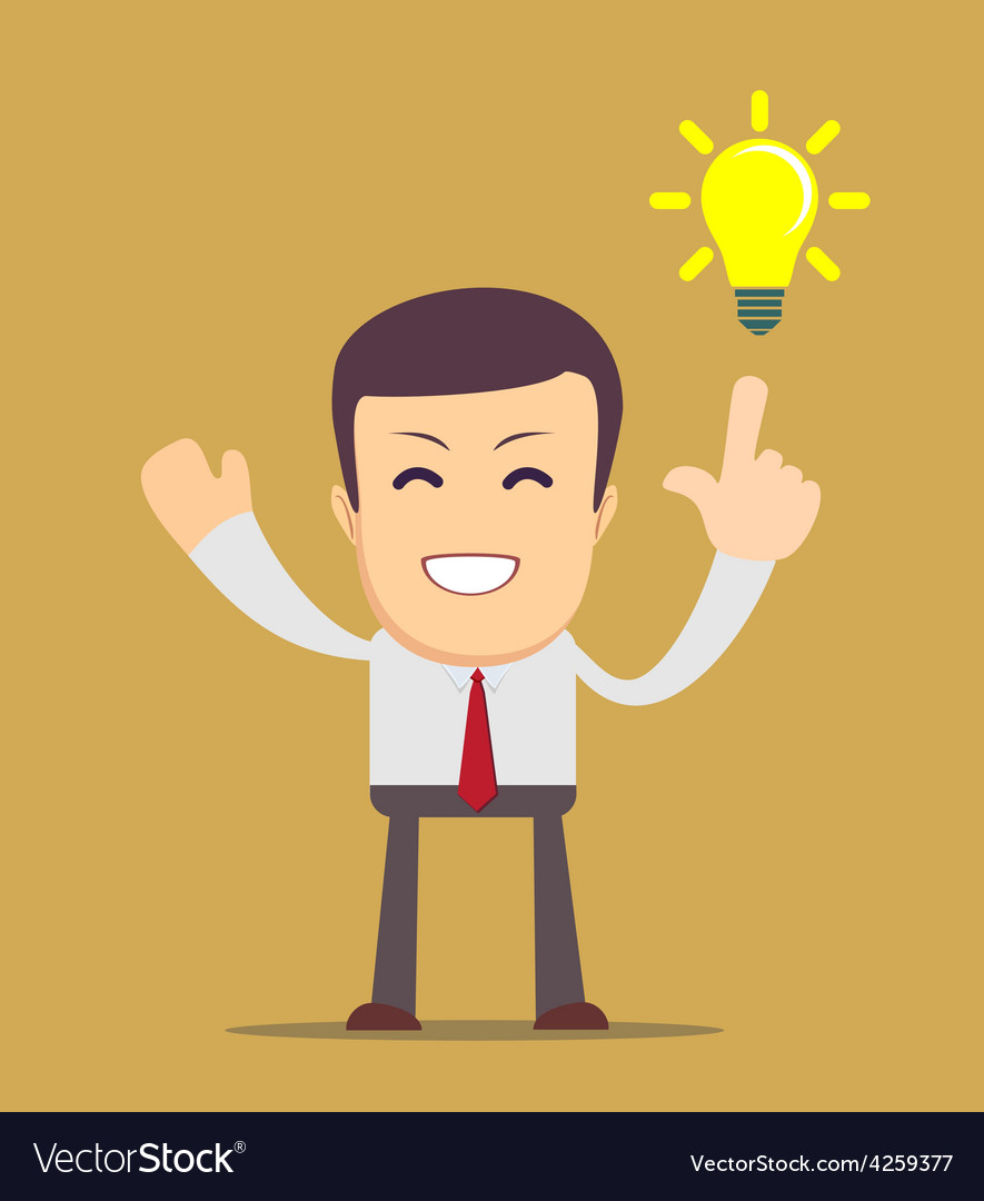 Businessman get the idea vector | Price: 1 Credit (USD $1)