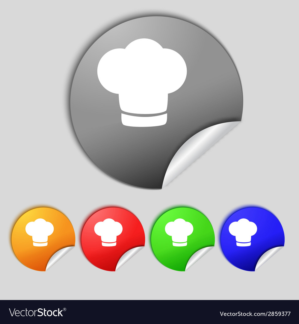 Chef hat sign icon cooking symbol cooks hat set vector | Price: 1 Credit (USD $1)