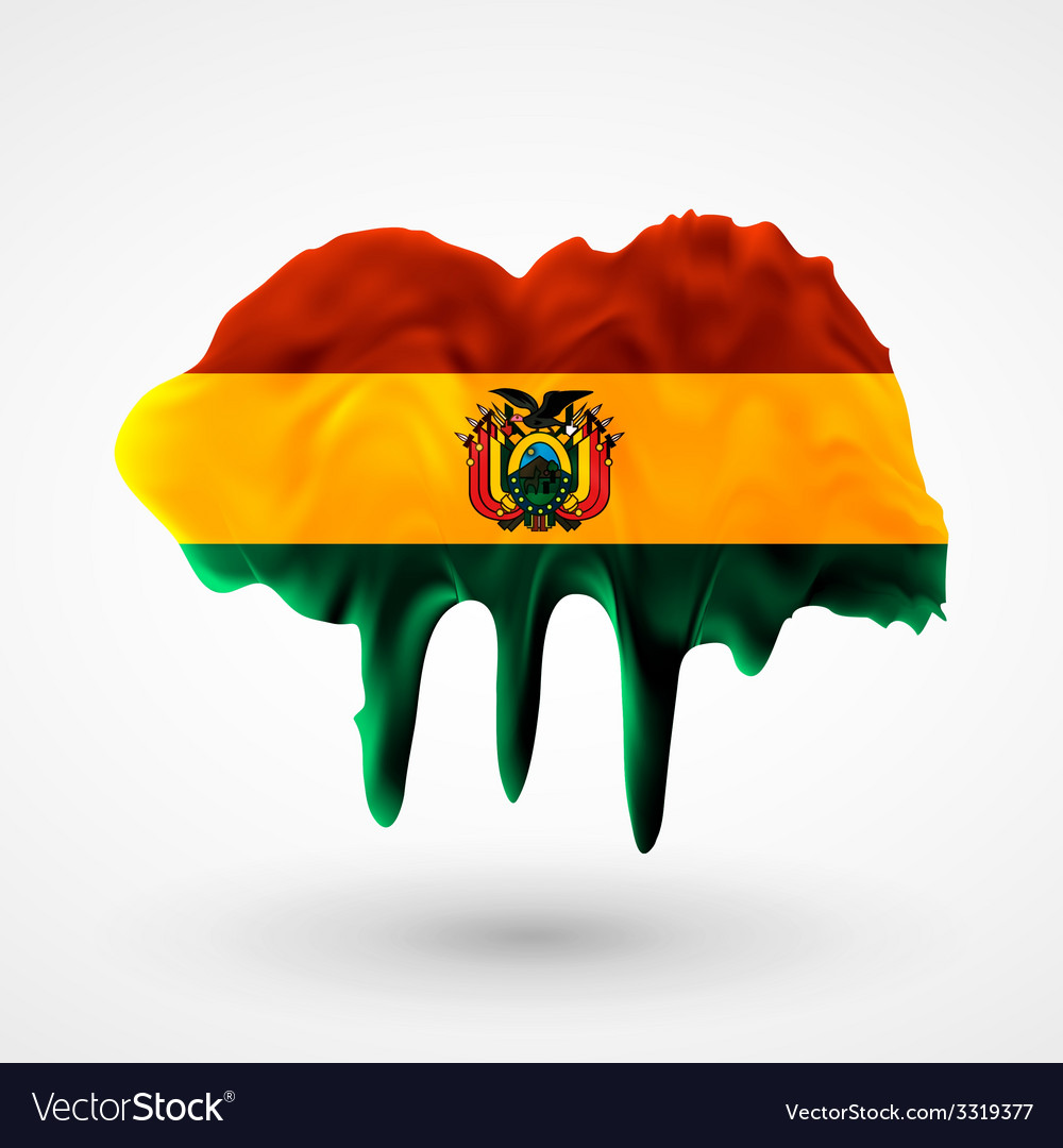 Flag of bolivia painted colors vector | Price: 1 Credit (USD $1)