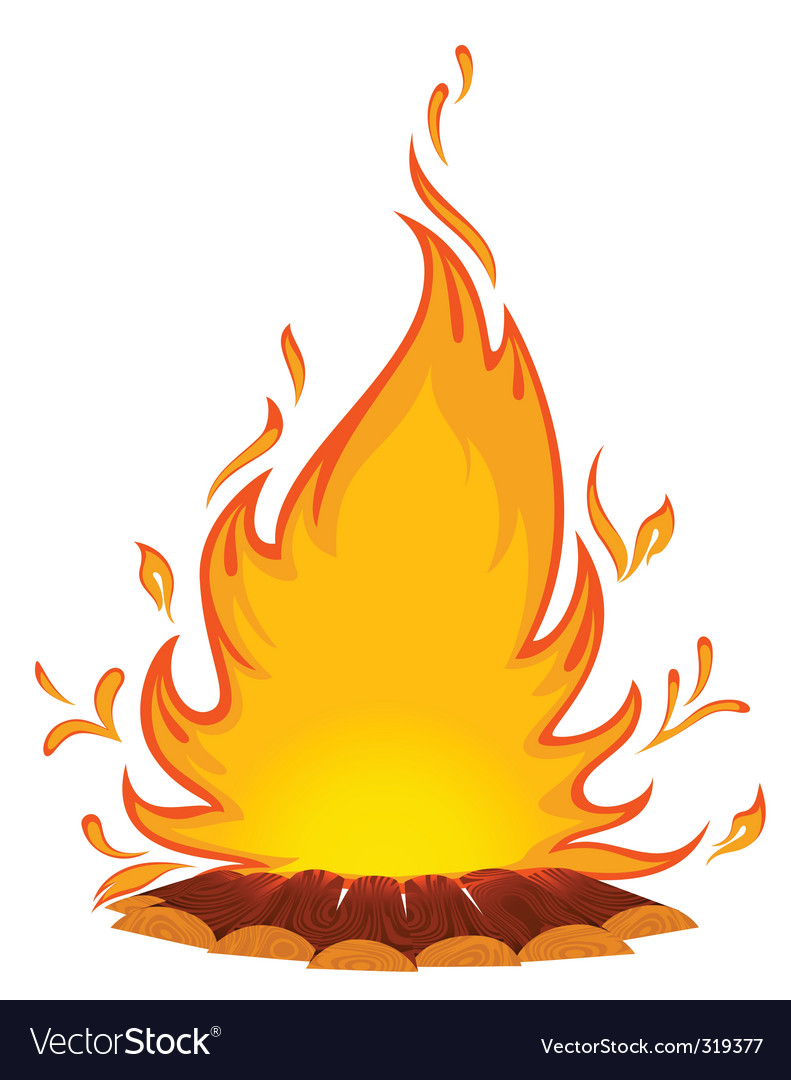 Log fire vector | Price: 1 Credit (USD $1)