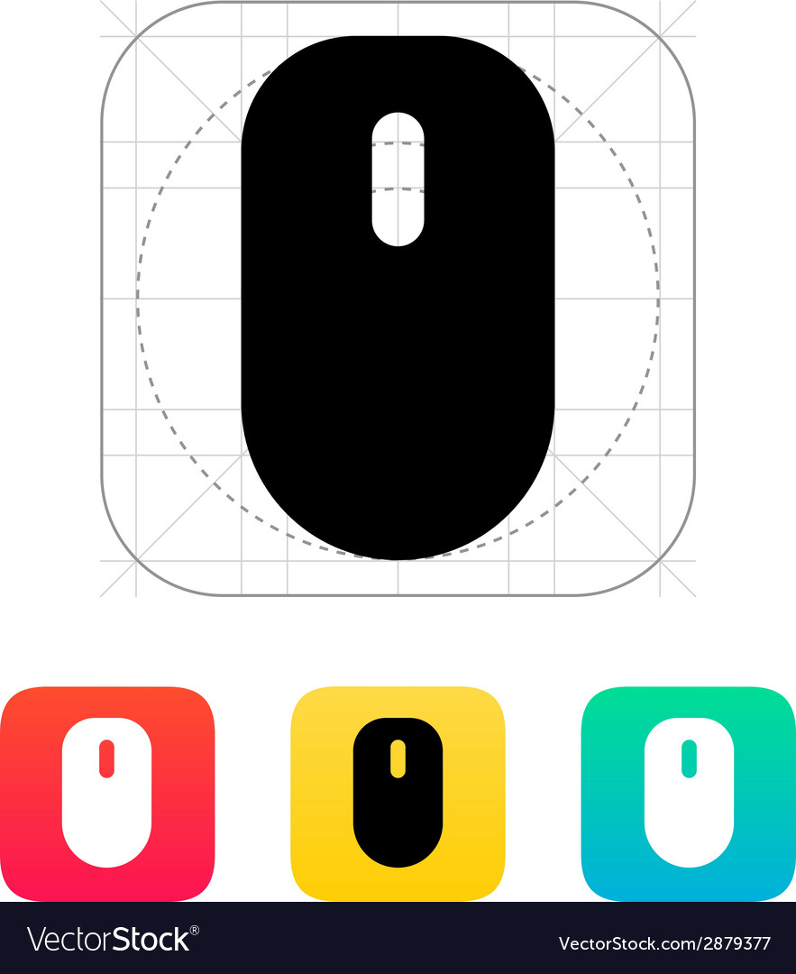 Mouse with scroll icon vector | Price: 1 Credit (USD $1)