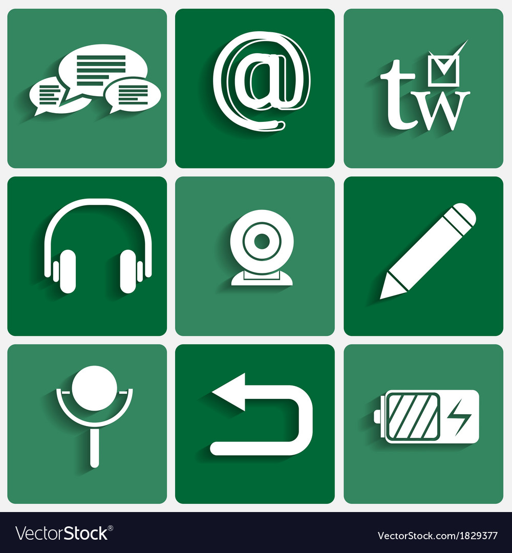 Phone interface theme icons set vector   Price: 1 Credit (USD $1)