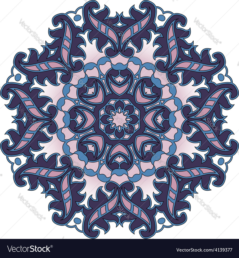 Purple circular pattern vector