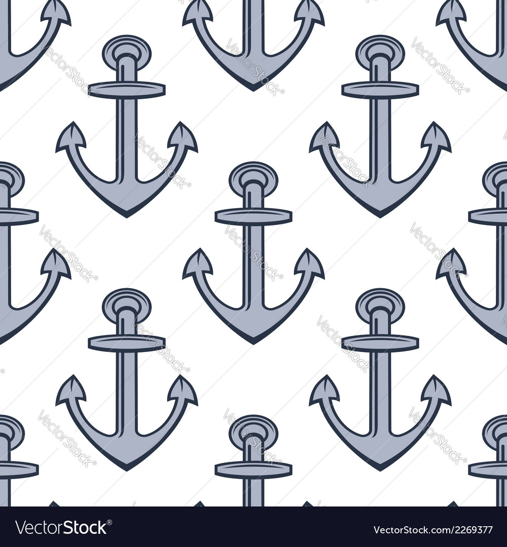 Seamless background pattern of ships anchors vector | Price: 1 Credit (USD $1)