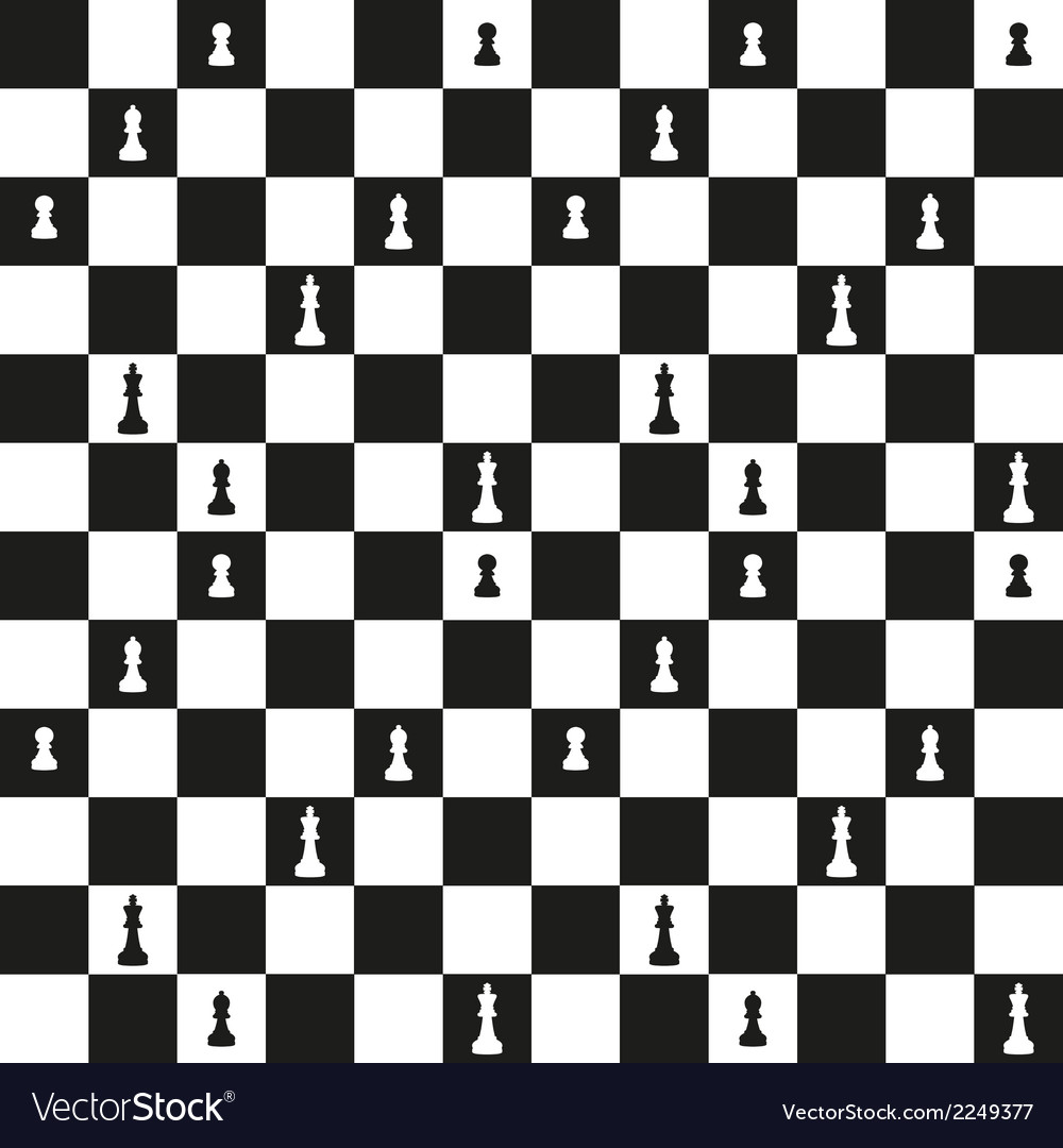 Seamless pattern with chessboard vector | Price: 1 Credit (USD $1)