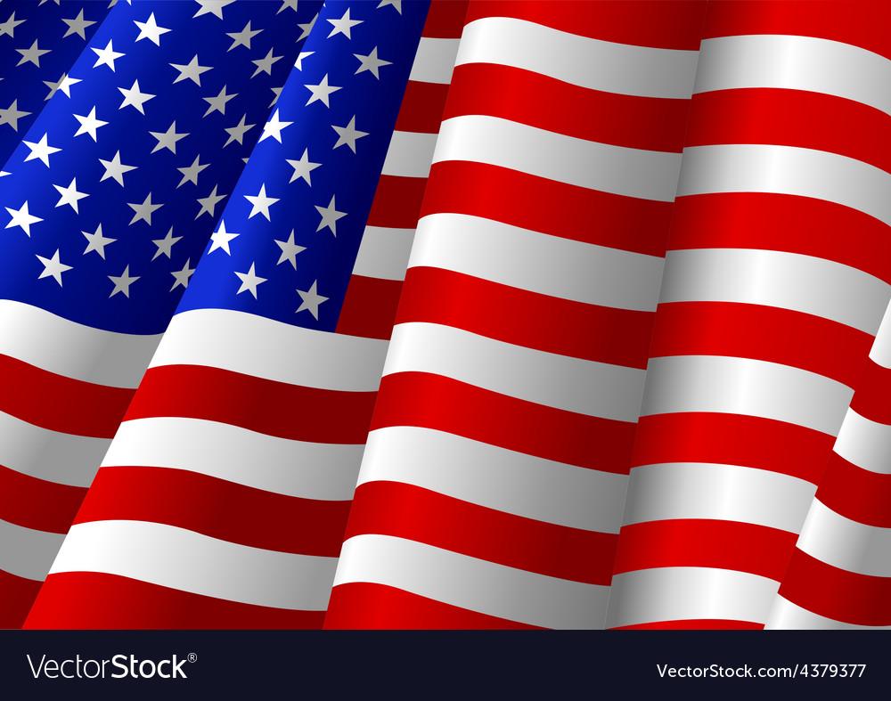Usa flag vector | Price: 1 Credit (USD $1)