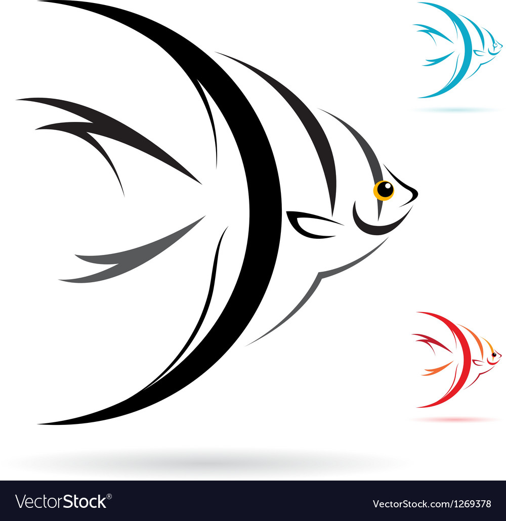 Angel fish vector | Price: 1 Credit (USD $1)