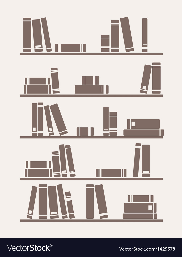 Books on the shelf school or library vector | Price: 1 Credit (USD $1)