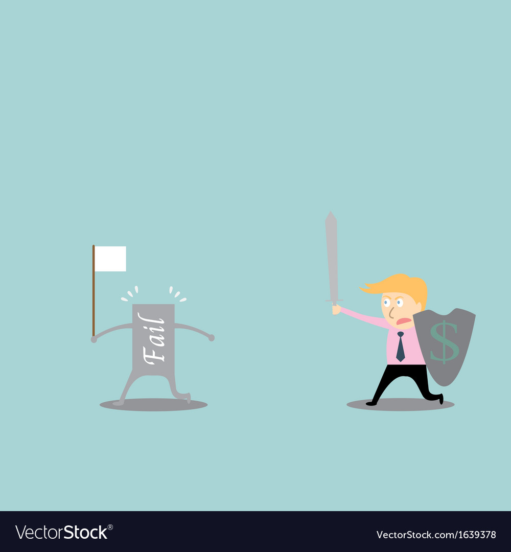 Businessman fighting for success vector | Price: 1 Credit (USD $1)