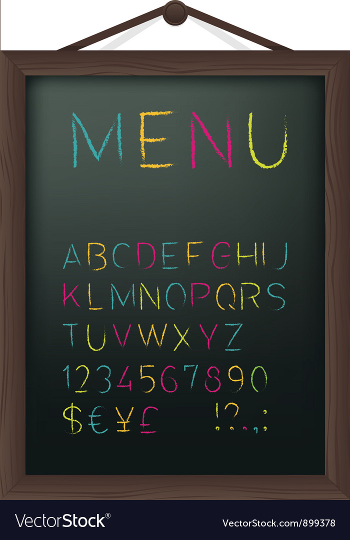 Cafe menu board vector | Price: 1 Credit (USD $1)