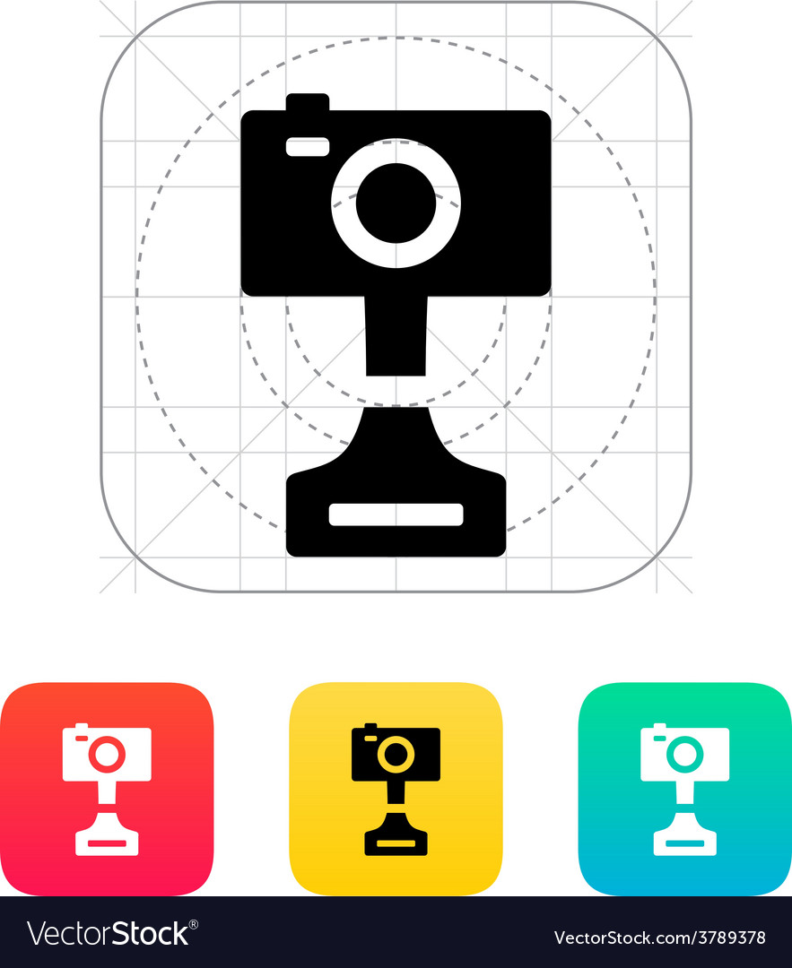 Digital camera icon on white background vector | Price: 1 Credit (USD $1)