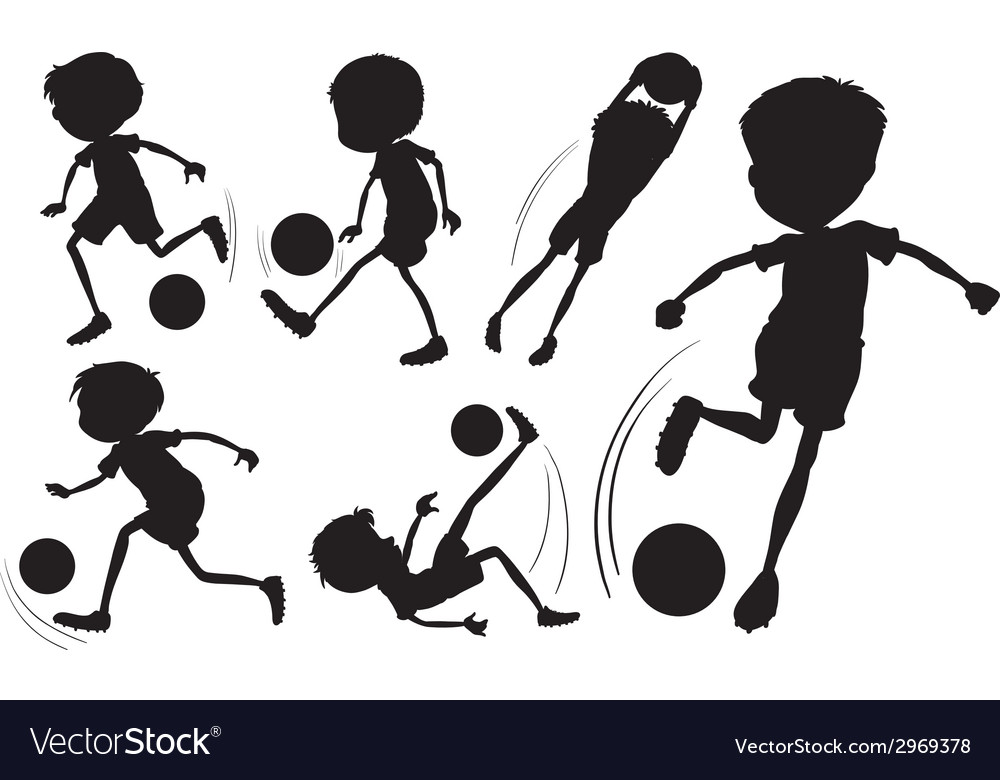 Doodle design of the soccer players vector | Price: 1 Credit (USD $1)