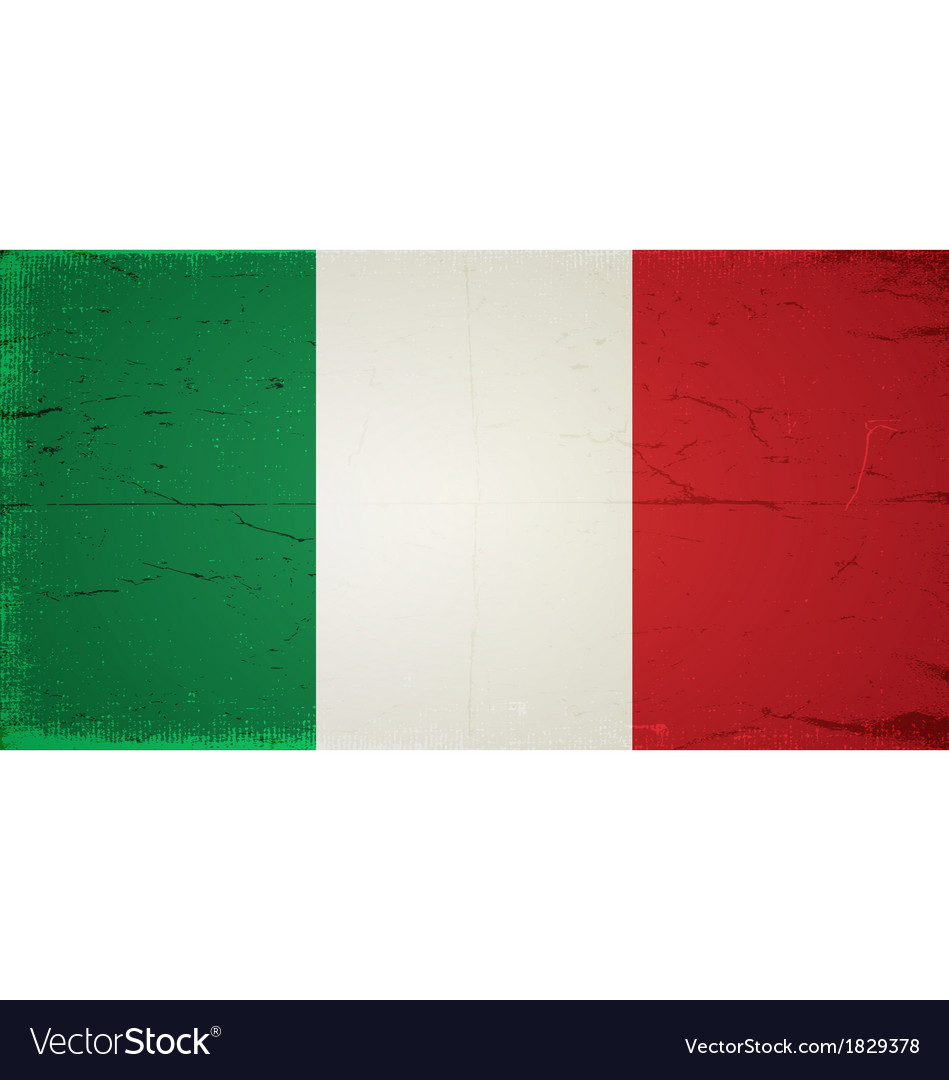 Grunge flags - italy vector | Price: 1 Credit (USD $1)